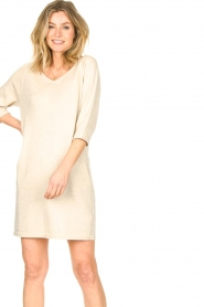 Knit-ted |  Sweater dress with lurex Daffodil | natural  | Picture 2