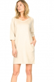 Knit-ted |  Sweater dress with lurex Daffodil | natural  | Picture 4