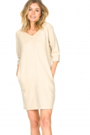 Knit-ted |  Sweater dress with lurex Daffodil | natural  | Picture 5