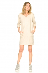 Knit-ted |  Sweater dress with lurex Daffodil | natural  | Picture 3