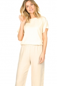 Knit-ted    Basic T-shirt Jelly   Ivory    Picture 2