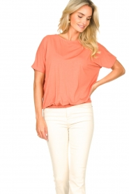 Knit-ted |  Basic top Vanes | pink  | Picture 5