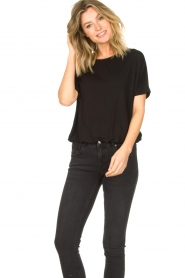 Knit-ted |  Basic top Vanes | black  | Picture 2