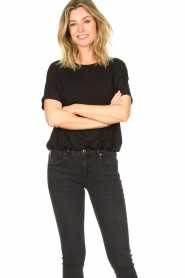 Knit-ted |  Basic top Vanes | black  | Picture 4