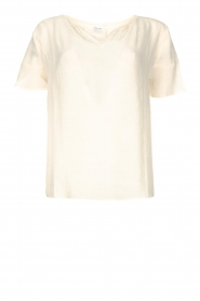Knit-ted |  Viscose top Stephanie | white  | Picture 1