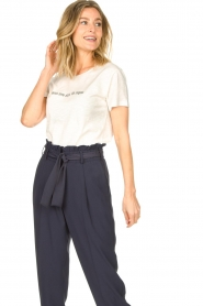 Knit-ted | Basic katoenen T-shirt Pascal | wit   | Afbeelding 4