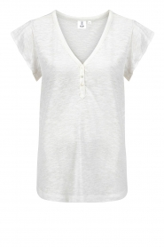 Knit-ted |  wit | Cotton top Elvanie   | Picture 1