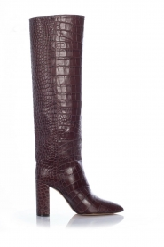 Toral |  High leather boots Cindy | bordeaux  | Picture 1