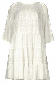 Devotion |  Cotton dress with ruffles | white  | Picture 1