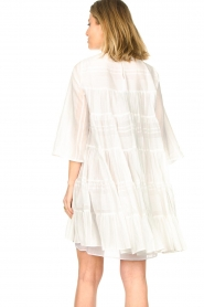 Devotion |  Cotton dress with ruffles | white  | Picture 6