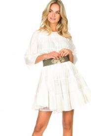 Devotion | Katoenen jurk met ruches Spain | wit   | Afbeelding 4