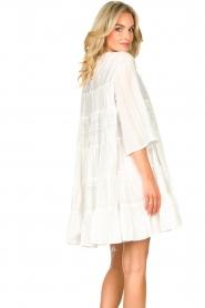 Devotion | Katoenen jurk met ruches Spain | wit   | Afbeelding 7