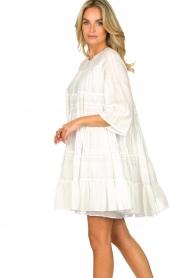 Devotion | Katoenen jurk met ruches Spain | wit   | Afbeelding 6