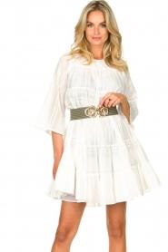 Devotion | Katoenen jurk met ruches Spain | wit   | Afbeelding 2