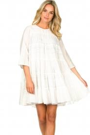 Devotion | Katoenen jurk met ruches Spain | wit   | Afbeelding 5