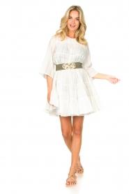 Devotion | Katoenen jurk met ruches Spain | wit   | Afbeelding 3