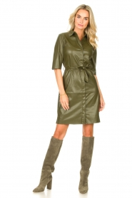 Toral |  Suede knee boots Sofia | khaki  | Picture 5