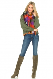 Toral |  Suede knee boots Sofia | khaki  | Picture 2