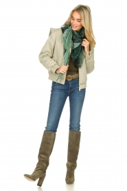 Toral |  Suede knee boots Sofia | khaki  | Picture 3