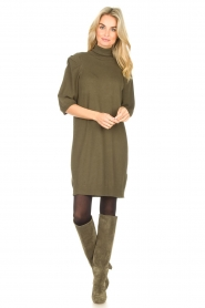 Toral |  Suede knee boots Sofia | khaki  | Picture 4
