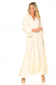 Devotion |  Cotton maxi dress Fortaleza | natural  | Picture 3