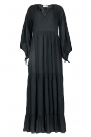 Devotion |  Cotton maxi dress Dories | black  | Picture 1