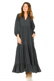 Devotion |  Cotton maxi dress Fortaleza | black  | Picture 4