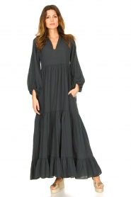 Devotion |  Cotton maxi dress Fortaleza | black  | Picture 2