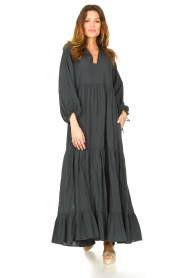 Devotion |  Cotton maxi dress Fortaleza | black  | Picture 3