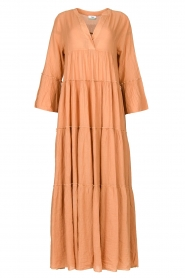 Cotton maxi dress Roos | nude