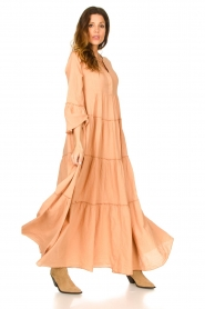 Devotion |  Cotton maxi dress Roos | nude  | Picture 2