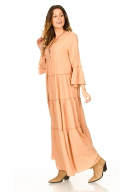 Devotion |  Cotton maxi dress Roos | nude  | Picture 3