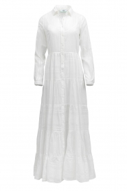 Devotion |  Striped maxi dress Evie | white  | Picture 1