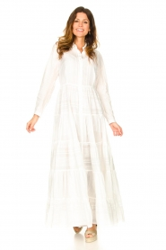 Devotion |  Striped maxi dress Evie | white  | Picture 2