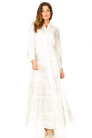 Devotion |  Striped maxi dress Evie | white  | Picture 3