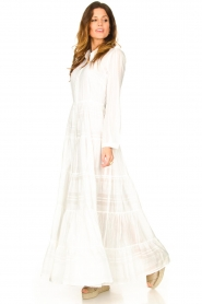 Devotion |  Striped maxi dress Evie | white  | Picture 4