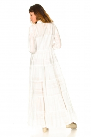 Devotion |  Striped maxi dress Evie | white  | Picture 6