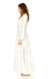 Devotion |  Striped maxi dress Evie | white  | Picture 5