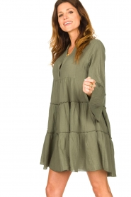 Devotion |  Cotton dress with ruffles Hague | green  | Picture 6