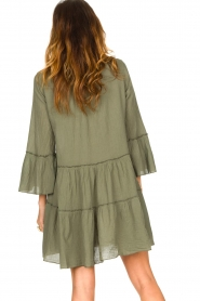 Devotion |  Cotton dress with ruffles Hague | green  | Picture 7