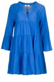 Devotion |  Cotton dress with ruffles Rosaline | blue  | Picture 1