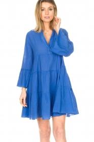 Devotion |  Cotton dress with ruffles Rosaline | blue  | Picture 4