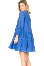 Devotion |  Cotton dress with ruffles Rosaline | blue  | Picture 6