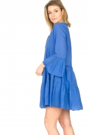 Devotion |  Cotton dress with ruffles Rosaline | blue  | Picture 5