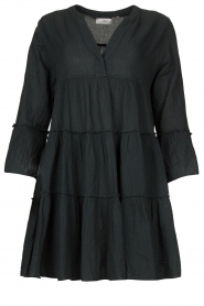 Devotion |  Cotton dress with ruffles Rosaline | black  | Picture 1