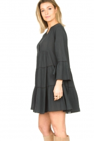 Devotion |  Cotton dress with ruffles Rosaline | black  | Picture 5