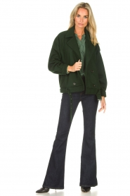 CHPTR S |  Short jacket with belt Final | green  | Picture 3
