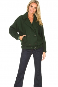 CHPTR S |  Short jacket with belt Final | green  | Picture 2