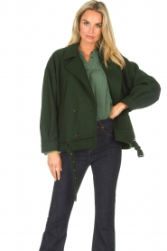 CHPTR S |  Short jacket with belt Final | green  | Picture 5