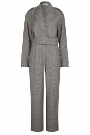 CHPTR S |  Tailored jumpsuit with print Melange | black & white  | Picture 1